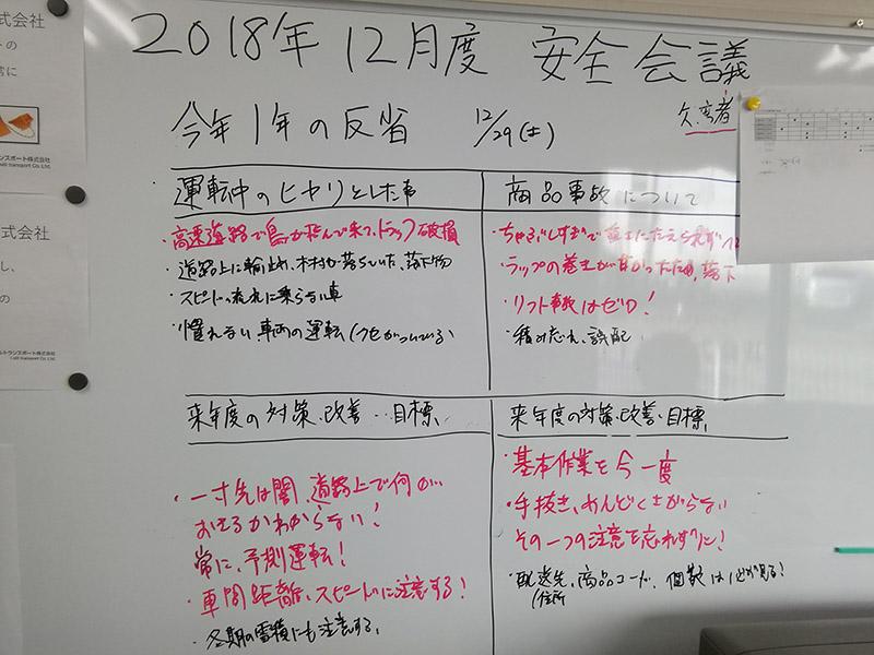 安全対策会議2018年12月