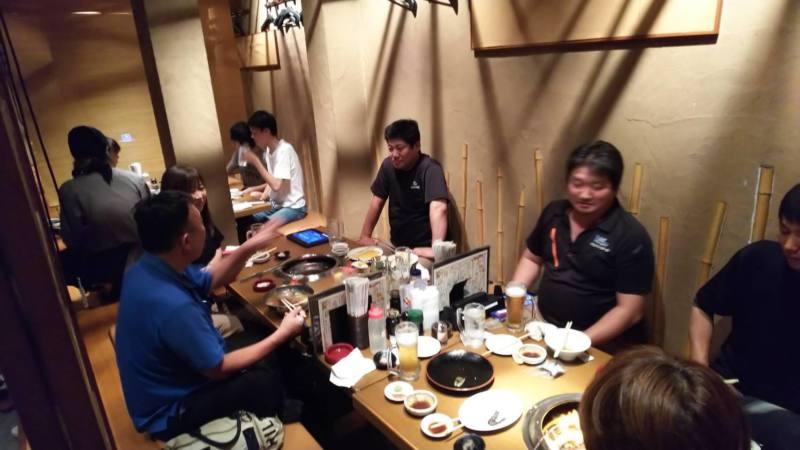 会議後からの食事会